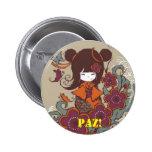 ORIGINAL!PAZ Buttons Pin Redondo De 2 Pulgadas