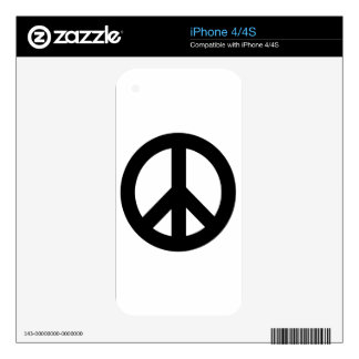 Original Peace Design Logo Product Skins For The iPhone 4