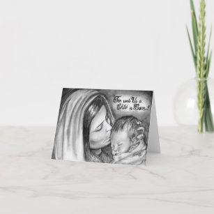 Pencil Drawing Christmas Cards Zazzle