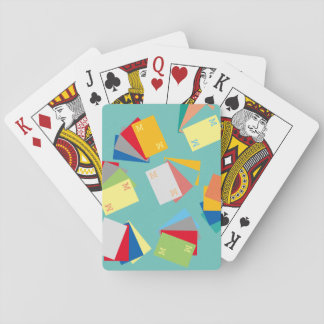 original & personalized initials, colorful playing cards