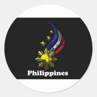 Original Philippine Logo. Mabuhay Pilipinas ! Classic Round Sticker