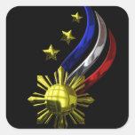 Original Philippine Logo. Mabuhay Pilipinas ! Square Sticker