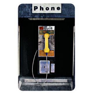 Original phone booth rectangular photo magnet