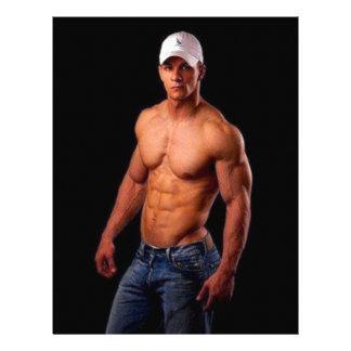 Original PhotArt - Muscular Torso in Hat & Jeans Personalized Letterhead