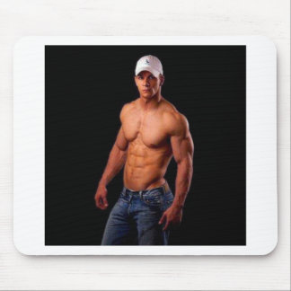 Original PhotArt - Muscular Torso in Hat & Jeans Mouse Pad