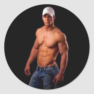 Original PhotArt - Muscular Torso in Hat Jeans Stickers