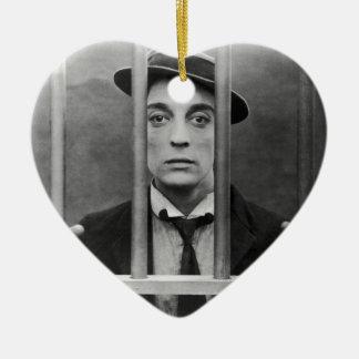 Original photo of a famous actor 1900s ceramic ornament