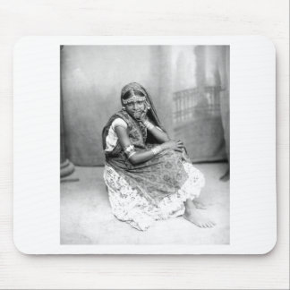 Original photo of Indian girl in Trinidad 1890 Mouse Pad