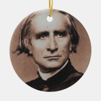 Original photo of Liszt, virtuoso pianist Ceramic Ornament