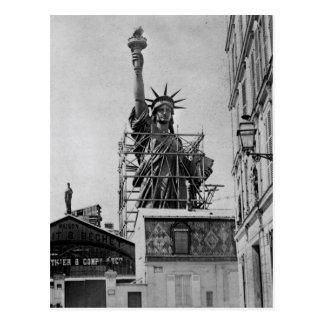 Original photo of the Statue of liberty in Paris Postcard