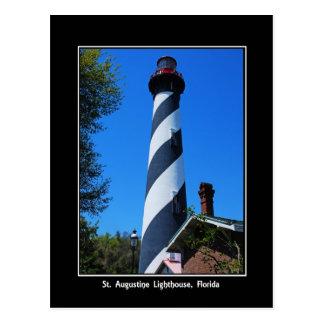 Original Photogr del faro de St Augustine la Postal