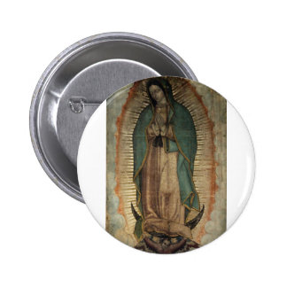 Original Picture of Our Lady of Guadalupe Pinback Button