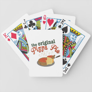 Original Pizza Pie Bicycle Playing Cards