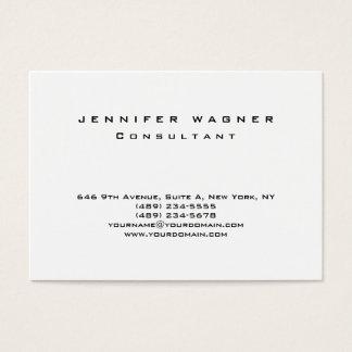 Original Plain Simple Black White Trendy Clean Business Card