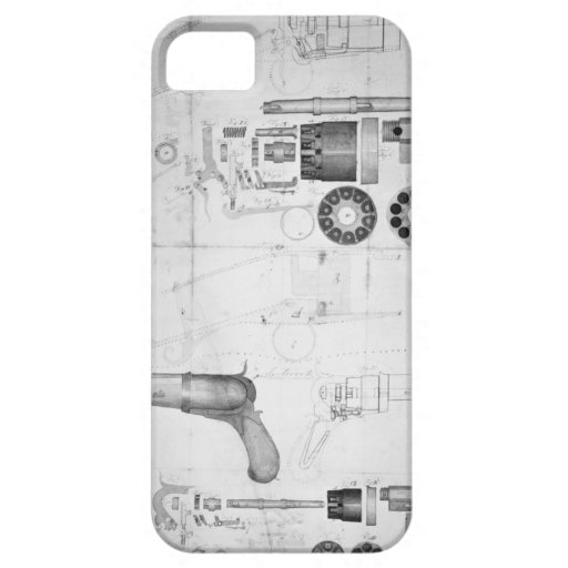 Original plans for a ten-chamber revolver which la iPhone 5 cover