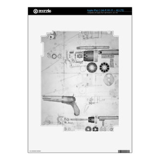 Original plans for a ten-chamber revolver which la decal for iPad 3