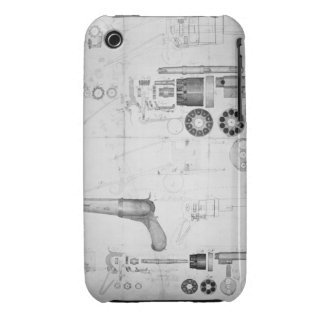 Original plans for a ten-chamber revolver which la iPhone 3 case