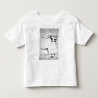 Original plans for a ten-chamber revolver which la toddler t-shirt