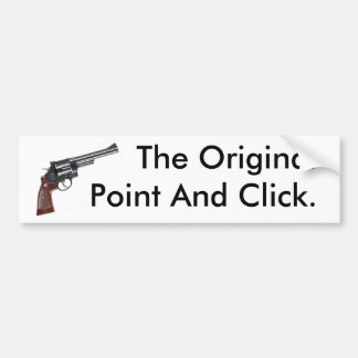 ORIGINAL POINT AND CLICK BUMPER STICKER