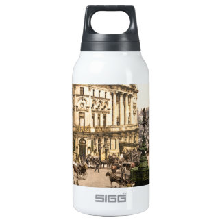 Original poster of Piccadilly circus in 1890's Insulated Water Bottle