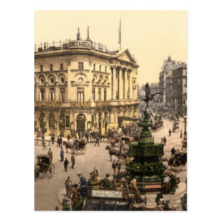 Original poster of Piccadilly circus in 1890's Postcard