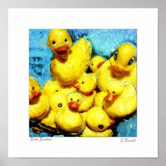 """Original Print by Sandra L Russell """"Bath Buddies"""""""