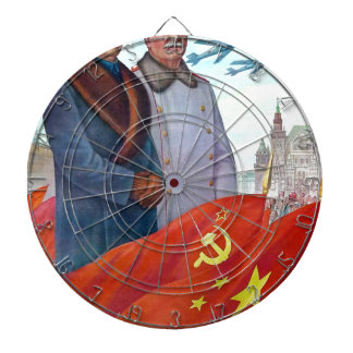 Original propaganda Mao tse tung and Joseph Stalin Dartboard With Darts