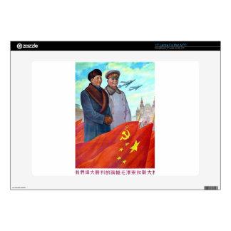 Original propaganda Mao tse tung and Joseph Stalin Decals For Laptops