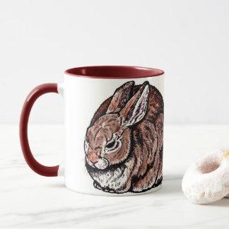 Original Rabbit Mug, Pen & Ink, Watercolor Drawing Mug