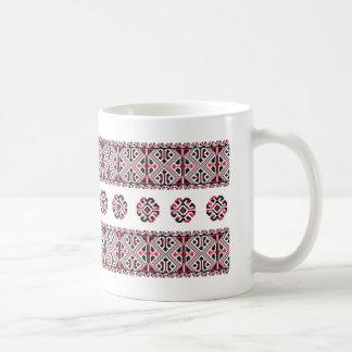 Original Red and Black cross-stitch Pattern Coffee Mug