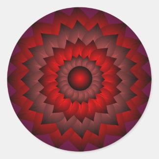Original Red Flower Art Sticker