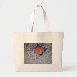 Original Reflections of Broken Heart Large Tote Bag