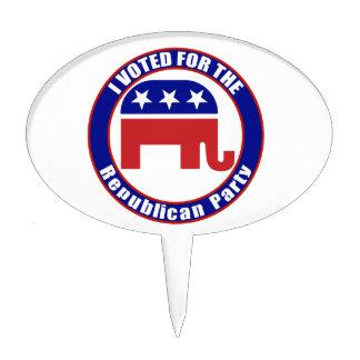 Original republicana votada figura para tarta
