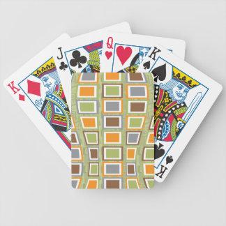 Original Retro Block wave design in green Poker Cards