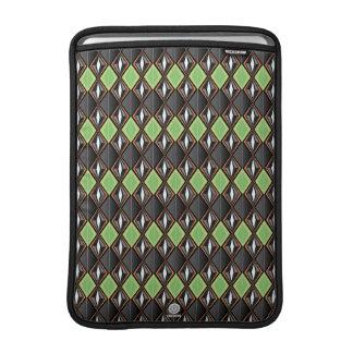 Original Retro Diamond design black/green MacBook Sleeve