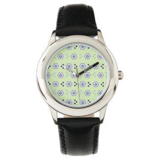 Original Rhinestone Black Enamel patterned watch