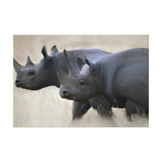 Original Rhino Brothers Canvas Print