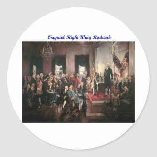 Original Right Wing Radicals Classic Round Sticker