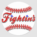 Original roja del cordón de Fightin Etiquetas