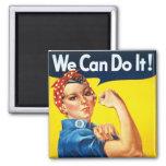 Original Rosie The Riveter 2 Inch Square Magnet
