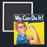 """Original Rosie The Riveter Magnet<br><div class=""""desc""""></div>"""