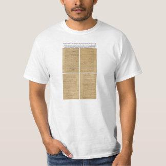 ORIGINAL Rough Draft Declaration of Independence T Shirt