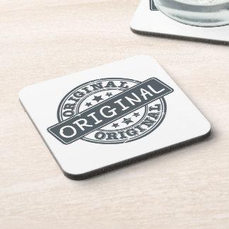 Original - rubber stamp beverage coaster