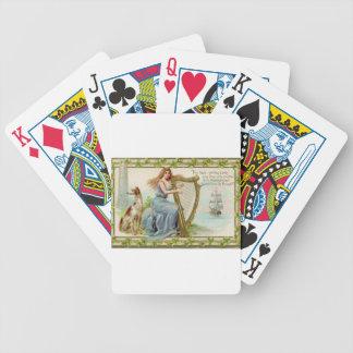 Original Saint patrick's day harp & lady Bicycle Playing Cards