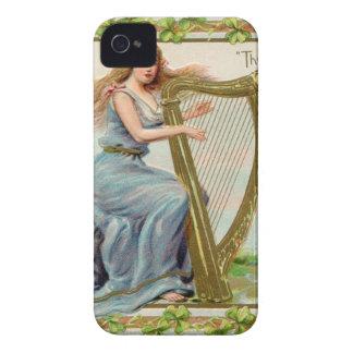 Original Saint patrick's day harp & lady iPhone 4 Case