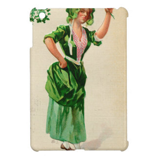 Original Saint patrick's day lady in green iPad Mini Cover