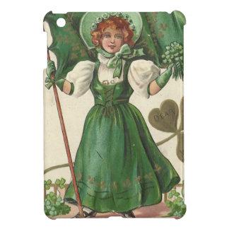Original Saint patrick's day lady vintage poster iPad Mini Cover