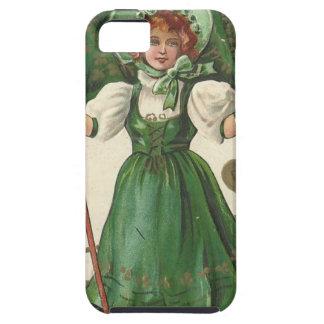 Original Saint patrick's day lady vintage poster iPhone SE/5/5s Case
