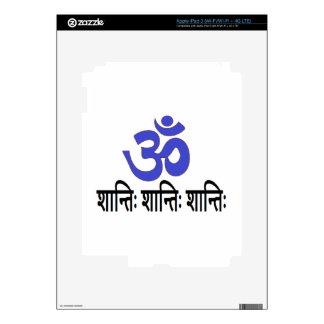 Original Sanskrit Text:  om aum peace mantra Skins For iPad 3