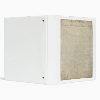 ORIGINAL Scan of the Declaration of Independence 3 Ring Binder